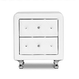 Baxton Studio Stella Crystal Tufted Upholstered Nightstand