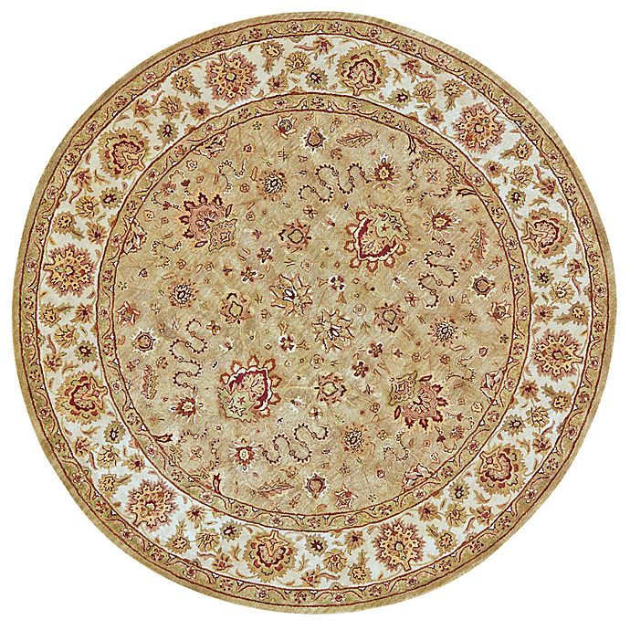 Alternate image 1 for Feizy Abbey Alexandra 8-Foot Round Area Rug in Sage/Ivory