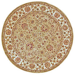 Feizy Abbey Alexandra 8' Round Area Rug in Sage/Ivory