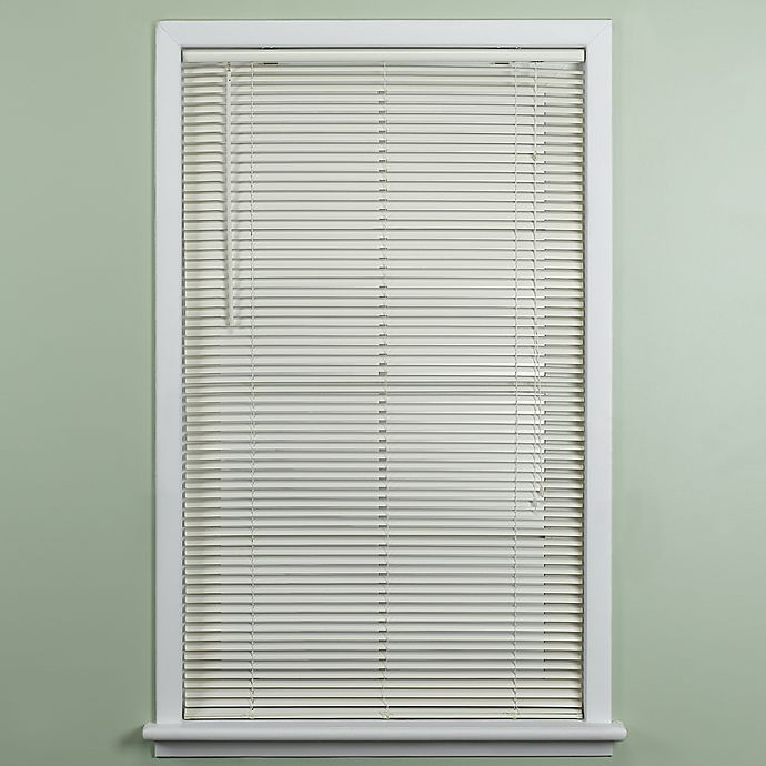Deluxe Sundown 1 Inch Room Darkening 31 W X 64 L Mini Blind In Alabaster