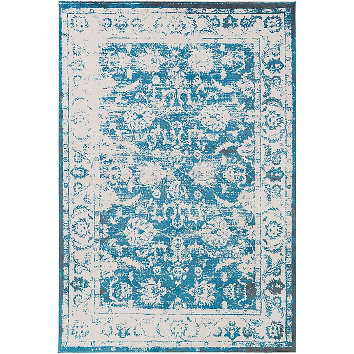 Alternate image 1 for Surya Apricity Floral 2-Foot x 3-Foot Accent Rug in Blue