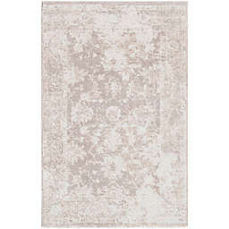 Surya Apricity Floral 2-Foot x 3-Foot Accent Rug in White