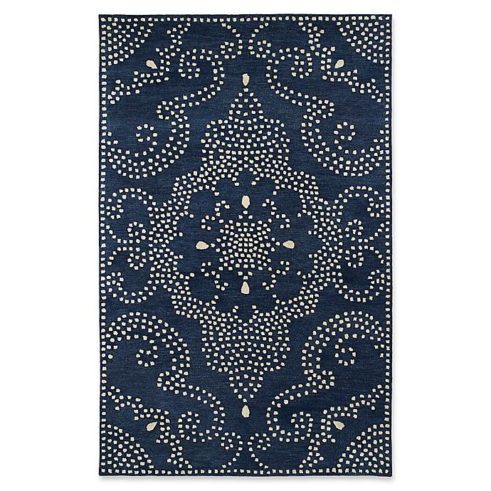 Alternate image 1 for Kaleen Rosaic Pindots 5-Foot x 7-Foot 9-Inch Area Rug in Navy
