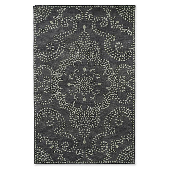 Alternate image 1 for Kaleen Rosaic Pindots 9-Foot 6-Inch x 13-Foot Area Rug in Charcoal
