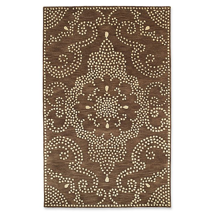 Alternate image 1 for Kaleen Rosaic Pindots 9-Foot 6-Inch x 13-Foot Area Rug in Brown