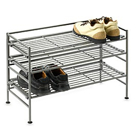 3-Tier Iron Stackable Shoe Rack