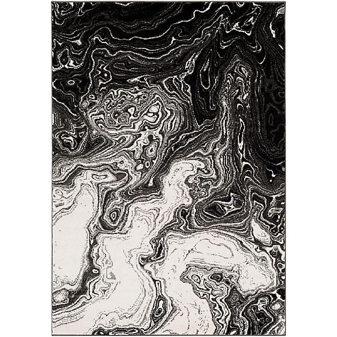Alternate image 1 for Surya Aldsworth 2-Foot x 3-Foot Accent Rug in Black
