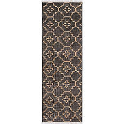 Surya Chilam 2'6 x 8' Handcrafted Jute Runner in Black/Tan