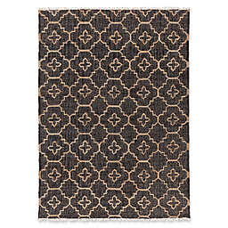 Surya Chilam 5' x 7'6 Handcrafted Jute Area Rug in Black/Tan