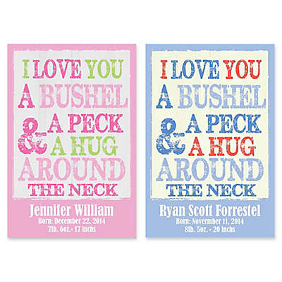 """Courtside Market 12-Inch x 18-Inch """"Bushel and a Peck"""" Canvas Wall Art"""