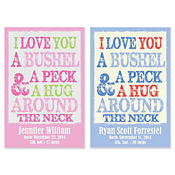 "Courtside Market 12-Inch x 18-Inch ""Bushel and a Peck"" Canvas Wall Art"