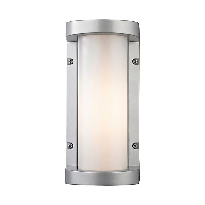 Elk Lighting Colby Outdoor Led Wall Sconce In Matte Silver