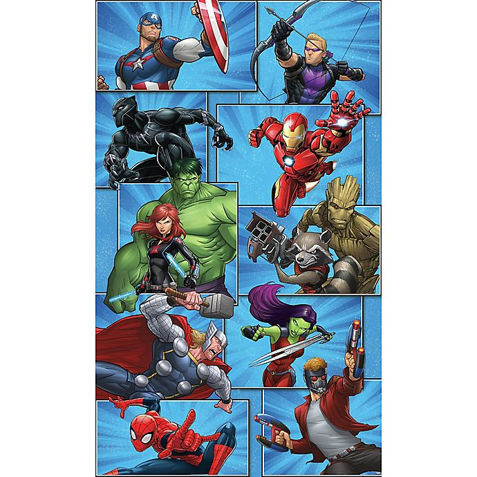 Marvel 174 Team Peel And Stick Mural Wall Art Bed Bath Amp Beyond