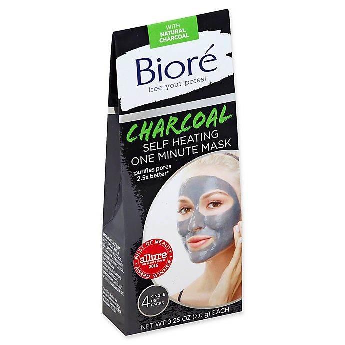 Alternate image 1 for Biore® 4- Count Self Heating One Minute Mask