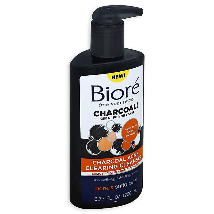Alternate image 1 for Biore® 6.77 Charcoal Acne Clearing Cleanser