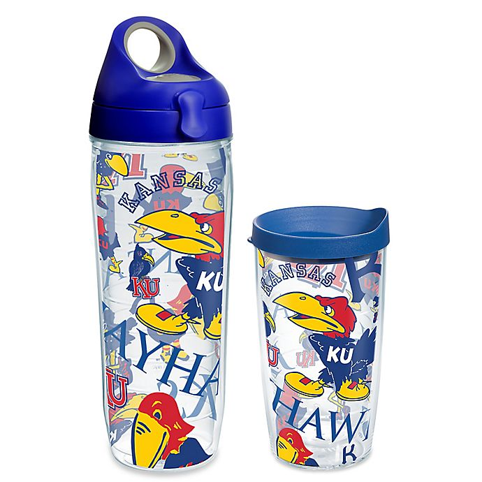 Alternate image 1 for Tervis® University of Kansas All Over Wrap Drinkware with Lid