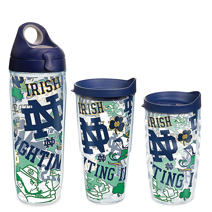 Alternate image 1 for Tervis® University of Notre Dame All Over Wrap Drinkware with Lid