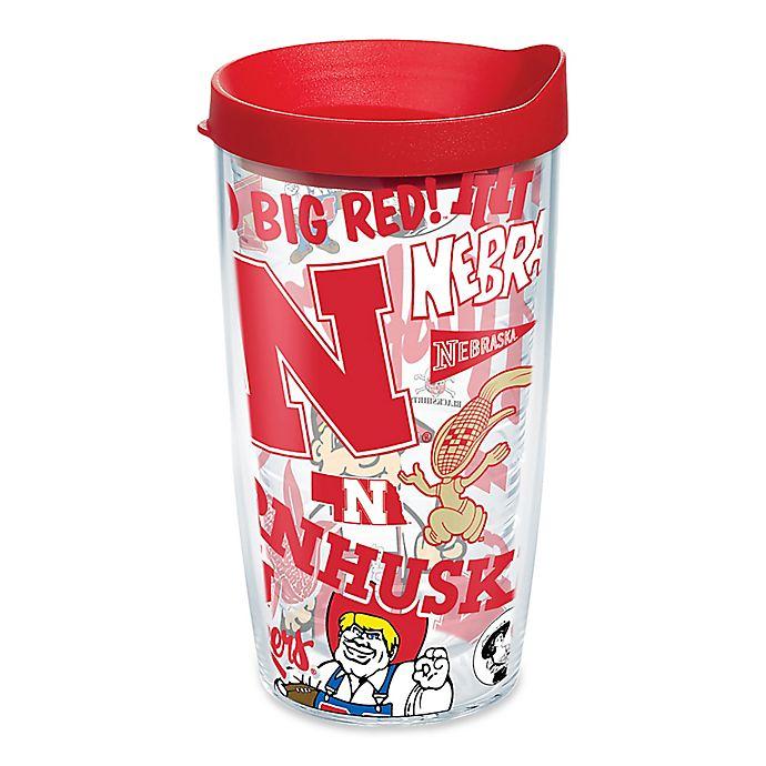 Alternate image 1 for Tervis® University of Nebraska All Over 16 oz. Wrap Tumbler with Lid