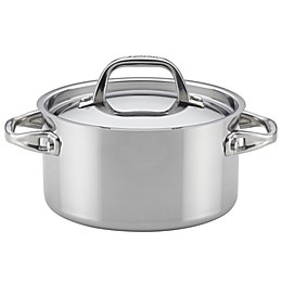 Anolon® Tri-Ply Clad Stainless Steel 3.5 qt. Covered Saucepan