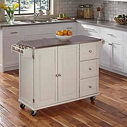 Home Styles Dolly Madison Liberty Kitchen Cart with Stainless Steel Top