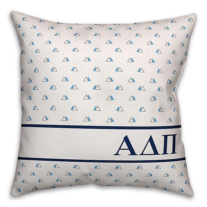 Alternate image 1 for Designs Direct Greek Sorority Triangle Throw Pillow
