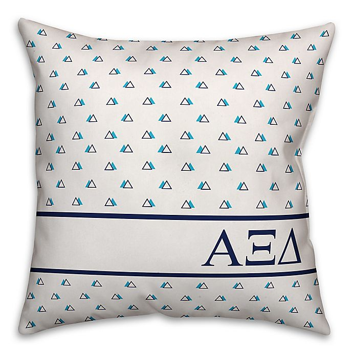 Alternate image 1 for Designs Direct Alpha Xi Delta Greek Sorority 18-Inch Triangle Throw Pillow in Blue