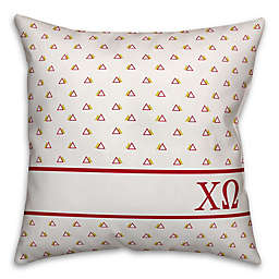 Designs Direct Chi Omega Greek Sorority 18-Inch Triangle Throw Pillow in Red