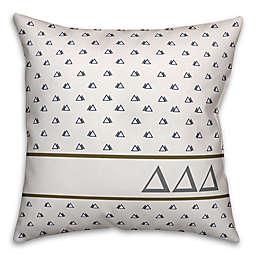 Designs Direct Delta Delta Delta Greek Sorority 18-Inch Triangle Throw Pillow in Blue