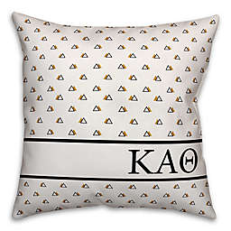 Designs Direct Kappa Alpha Theta Greek Sorority 18-Inch Triangle Throw Pillow in Yellow