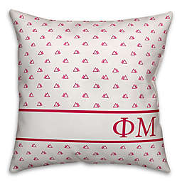 Designs Direct Phi Mu Greek Sorority 18-Inch Triangle Throw Pillow in Pink
