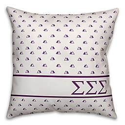 Designs Direct Sigma Sigma Sigma Greek Sorority 18-Inch Triangle Throw Pillow in Purple