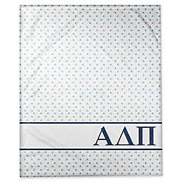 Designs Direct Alpha Delta Pi Triangle Throw Blanket in Blue