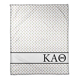 Designs Direct Kappa Alpha Theta Triangle Throw Blanket in Yellow