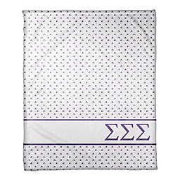 Designs Direct Sigma Sigma Sigma Triangle Throw Blanket in Purple