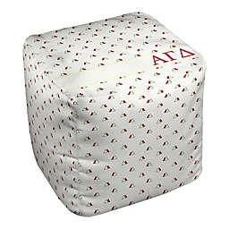Designs Direct Alpha Gamma Delta Triangles Ottoman in Red