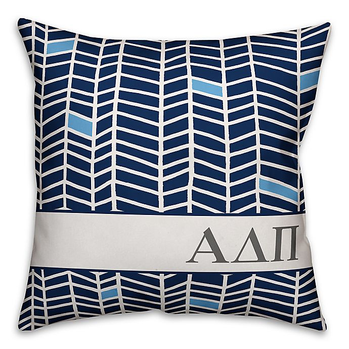 Alternate image 1 for Designs Direct Sorority Chevron 18-Inch Square Throw Pillow Collection