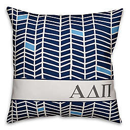 Designs Direct Sorority Alpha Delta Pi Chevron Square Throw Pillow in Blue