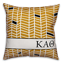 Designs Direct Sorority Kappa Alpha Theta Chevron Square Throw Pillow in Yellow