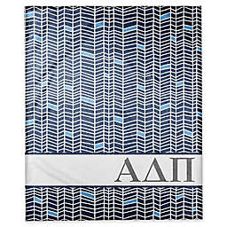 Designs Direct Alpha Delta Pi Chevron Throw Blanket in Blue