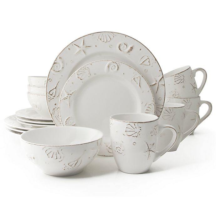 Alternate image 1 for Thomson Pottery Hampton 16-Piece Stoneware Dinnerware Set