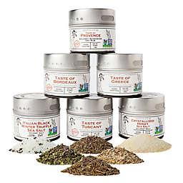 Gustus Vitae 6-Pack Luxury Gourmet Seasoning & Salt Collection