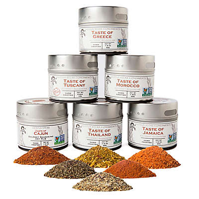 Gustus Vitae 6-Pack Cuisines of the World Gourmet Spice Blends