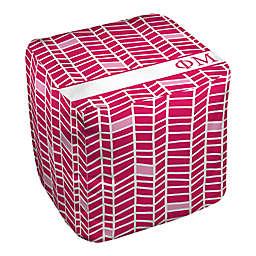 Designs Direct Phi Mu Chevron Ottoman in Pink