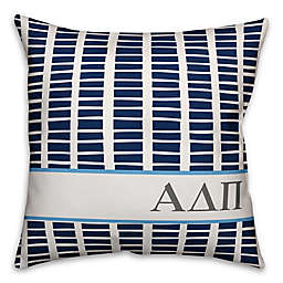 Designs Direct Alpha Delta Pi Greek Sorority 18-Inch Square Throw Pillow in Blue
