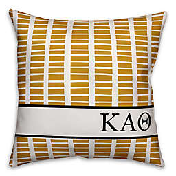 Designs Direct Kappa Alpha Theta Greek Sorority 18-Inch Square Throw Pillow in Yellow