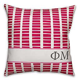 Designs Direct Phi Mu Greek Sorority 18-Inch Square Throw Pillow in Pink