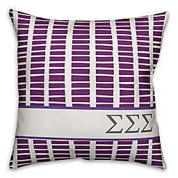 Designs Direct Sigma Sigma Sigma Greek Sorority 18-Inch Square Throw Pillow in Purple