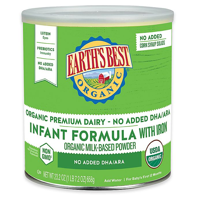 Alternate image 1 for Earth's Best® Organic 23.2 oz. Formula with Iron