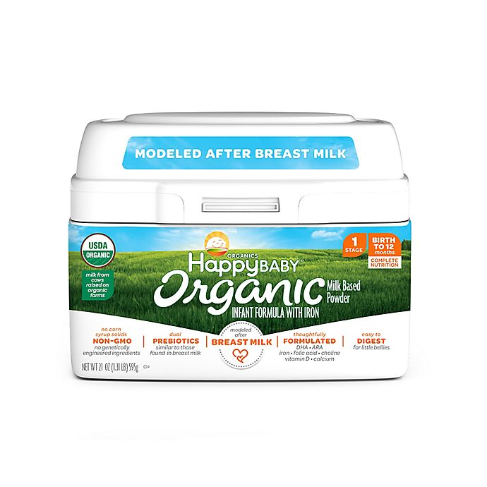 Alternate image 1 for Happy Baby™ 1.31 lb. Stage 1 Organic Infant Formula