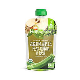 Happy Baby™ 4 oz. Stage 2 Organic Baby Food with Zucchini, Apple, Pea, Quinoa and Basil